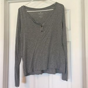 AE Long Sleeve Henley Tee